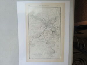 Original Vintage Map of the Pittsburgh Railways Co. System ~ 1915