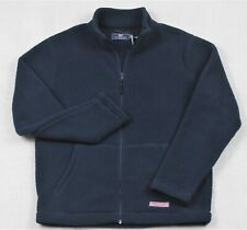 Vineyard Vines Sherpa Full Zip Fleece Mock Jacket Navy M Medium NWT $155