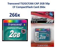 COMPACTFLASH  TRANSCEND TS2GCF266 2GB 266x speed with SLC inside (QTY: 2 PEZZI)