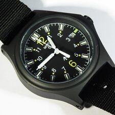 MWC G10 100m GTLS Hybrid Black Titanium Military Watch NEW