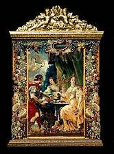 ORNATE CHERUB WALL HANGING / TAPESTRY / PANEL PICTURE FOR DOLLS HOUSE.ROOM BOX