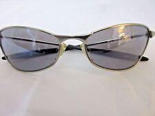 S-GEAR Sunglasses Eyewear Silver-Tone Metal Full Frame 40/6 Dark Gray Lenses
