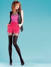 "Mock Suspender Tights by Sentelegri "" Over Knee"" with Imitating Over Knee Sock"