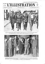 Espagne Général José Sanjurjo Sacanell à Séville Guardia Civil GRAVURE 1932