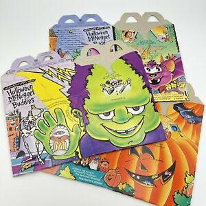 Mcdonalds Happy Meal Boxes Box 1993 Halloween McNugget Buddies Set Of 3