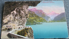 AK 1910 Axenstraße Bristenstock Glarner Alpen Kutsche Gespann Vierwaldstättersee