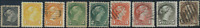 Canada #34-39 used F/VF 1870-1897 Queen Victoria Small Queen Part Set CV$92.25