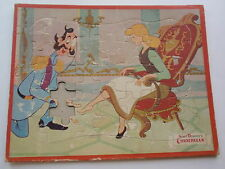 Vintage Walt Disney Cinderella Frame Tray Puzzle 1950s Missing Piece Classic