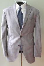 De Petrillo Napoli Gray Glen Plaid POW Check Hand Made Canvas Suit 2 Vnt Flat 50