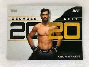 TOPPS UFC 2020 DECADES NEXT CARD - DN-8 KRON GRACIE - NEW PACK/BOX FRESH
