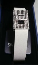 "SWAROVSKI SILVER CRYSTAL JEWELERY ""EMPIRE BRACELET WHITE""   MINT IN BOX  945230"