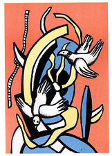 "FERNAND LEGER LITHOGRAPH: ""LES OISEAUX""-- PLATE SIGNED--FREE SHIPPING"