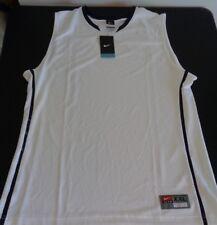 NIKE Hyper Elite XXL Basketball 436634-107 White Navy Blue NEW Jersey FREE SHIP