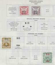 4 Eastern Silesia Back of Book Stamps from Quality Old Antique Album 1920