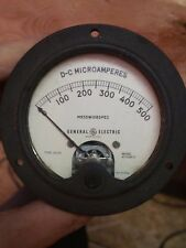 General Electric D-C Microamperes MR35W108spec Type DO41, Model ATV58-IC Meter