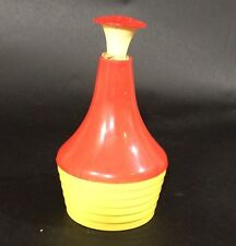 Vintage Gothamware Plastic Laundry Sprinkler Cork Top Made in USA Yellow Red