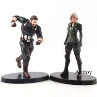 Marvel Avengers Infinity War Black Widow Figure Captain America Figurine PVC