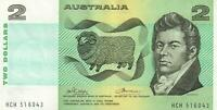 AUSTRALIA $2 BANKNOTE Phillips Wheeler aUNC EXCELLENT - NO FOLDS, NO EDGEWEAR