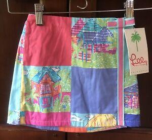 Lilly Pulitzer Compass Patch Resort Girls Little Lennie Skort Size 4 NWT $54