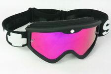 Occhiali da moto con lenti in rosa con montatura in nero