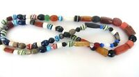 Vintage African Trade Beads 38 inch Strand Agate Carnelian Clay As Is Old Ethic