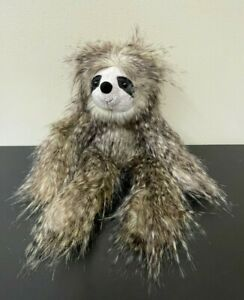 "Jellycat London Cyril The Sloth 16"" Long Hair Beanbag Stuffed Plush - EUC"