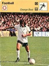 FICHE CARD:George Best Ireland England Winger Attacking midfielder FOOTBALL1970s