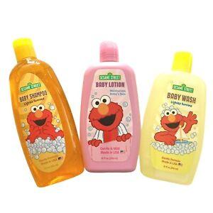 Sesame Street Baby Shampoo Baby Wash Baby Lotion (Set of 3) Gentle Formula USA