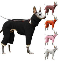 Large Dog Jumpsuit Winter Warm Fleece Dog Coat High Collar Pet Clothes S-5XL