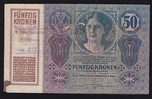 YUGOSLAVIA ---- 50 KRONEN  1914 --- WITH  SEAL  ---