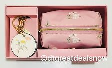 NWT COACH TOSSED DAISY COSMETIC TRAVEL BAG POUCH CARNATION F73078 PINK SET