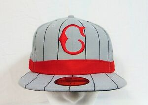 New Era MLB Cincinnati Reds Grey & Red Fitted Hat Cap 59FIFTY Sz 7 3/8 NEW RARE