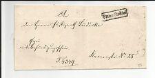 Preussen V / BERLIN / Franco Stadtbrf, schwarzer Ra1 auf Kabinett-Orts-Brief
