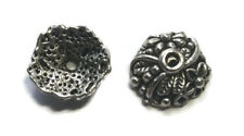 Antique Silver Bead Caps 13.0mm x 4.5mm (15)