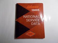 1965 ADVANCE NATIONAL SERVICE DATA MANUAL PRELIMINARY ADVANCE DATA
