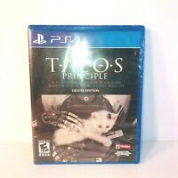 Playstation 4 The Talos Principle Deluxe Edition Video Game - Brand New