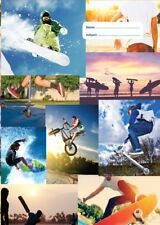NEW Spencil Sports Collage I Sport Surf Cricket Snowboard A4 School Book Cover