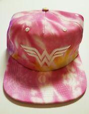 Wonder Woman Pink Tie Dye Snapback Baseball Cap Hat Bioworld DC Comics *NEW*
