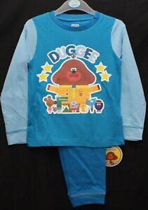 Boy's HEY DUGGEE Pyjamas/ Blue Long-Sleeved DUGGEE PJs Sizes 12 months-4 years