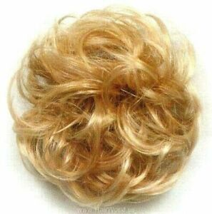 "Soft, Curly hair tie ponytail holder Scrunchie Hairpiece 3"" Donut Hair Elastic"