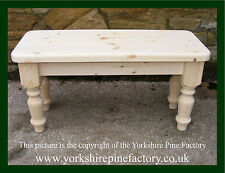 Farmhouse Handmade Solid Pine Quality Bench ideal shabby chic - ref PBE023