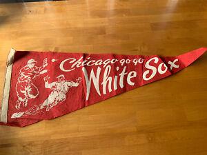 Vintage 40s 1950's Chicago White Sox Baseball Pennant Go Go