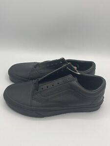 Vans Old Skool Classic Tumble Black Mono Sneaker Women's Size 6.5 - NEW