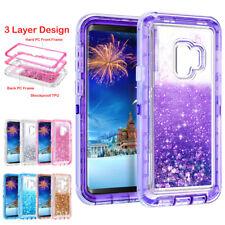 Bling Glitter Liquid Case For Samsung Note 8 9 S7 S8 S9 Plus Hard Defender Cover