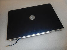 "FP630 GENUINE Dell Inspiron 1721 17"" Black LCD Screen Lid Cover W/ HINGES 0FP630"