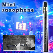 More details for mini portable pocket saxophone sax instrument+ reeds with bag for beginner gifts