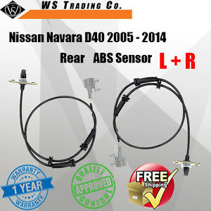 1 x ABS Sensor for Nissan Navara D40 2005-2014 Rear Left & Right