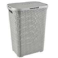 Wäschekorb Rattan Wäschebox Wäschekörbe Wäschesammler 60L 40L Curver