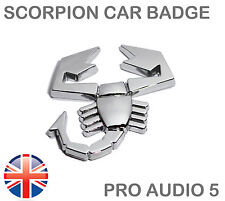 Scorpion Chrome Car Badge - Universal Boot Body Abarth Fiat Ford Truck Van - UK