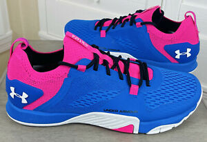 Under Armour TriBase Reign 2 Blue/Pink Training Shoes, 3022613-403 - Men's 8.5